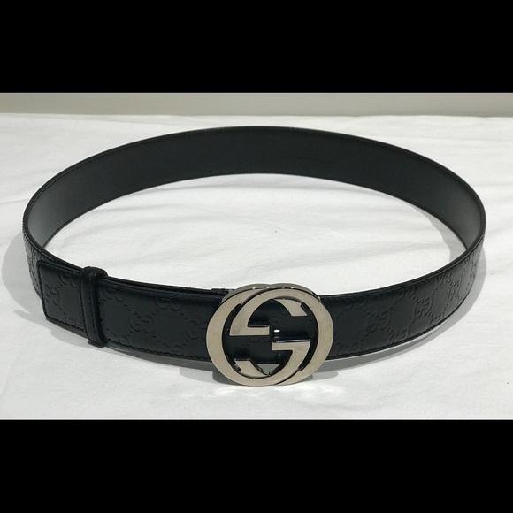 0edef69cf6d Gucci Other - Gucci Belt Black Guccissima Interlocking GG 114876